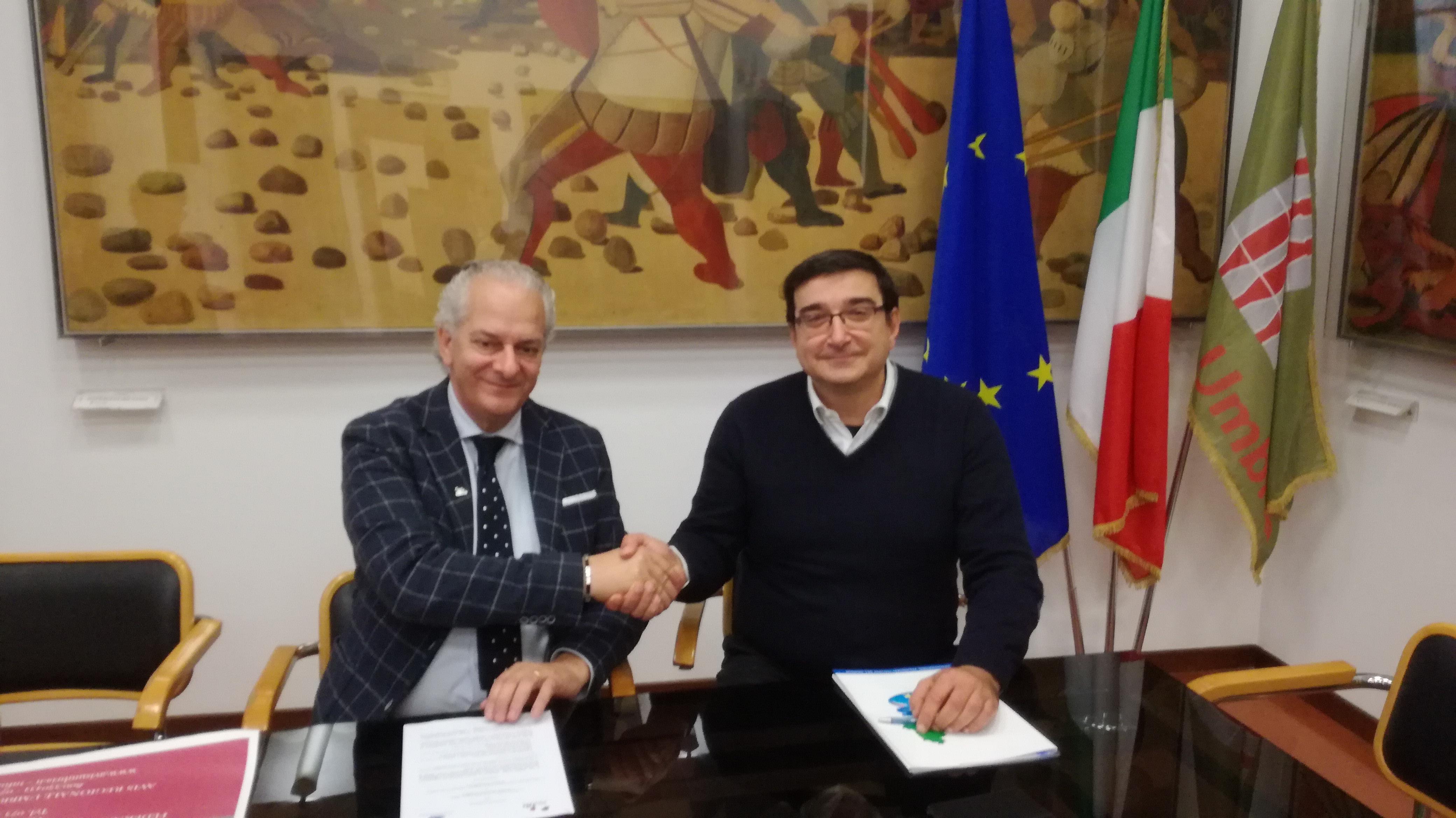 Sottoscrizione del protocollo di intesa tra Avis Regionale dell'Umbria e Federazione Italiana Bocce dell'Umbria