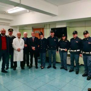 La Polizia di Stato di Terni aderisce alla campagna di donazione sangue. Il Questore e dieci operatori al Santa Maria per donare