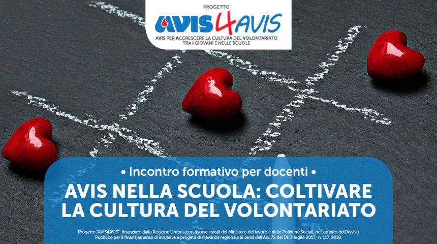 AVIS NELLA SCUOLA: COLTIVARE LA CULTURA DEL VOLONTARIATO