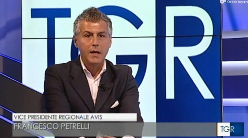 TG3 Umbria 10 Dicembre 2019 – Vice Presidente Regionale AVIS Umbria Francesco Petrelli